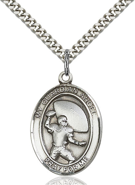 Guardian Angel Football Sterling Silver Medal
