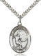 Guardian Angel Soccer Sterling Silver Medal
