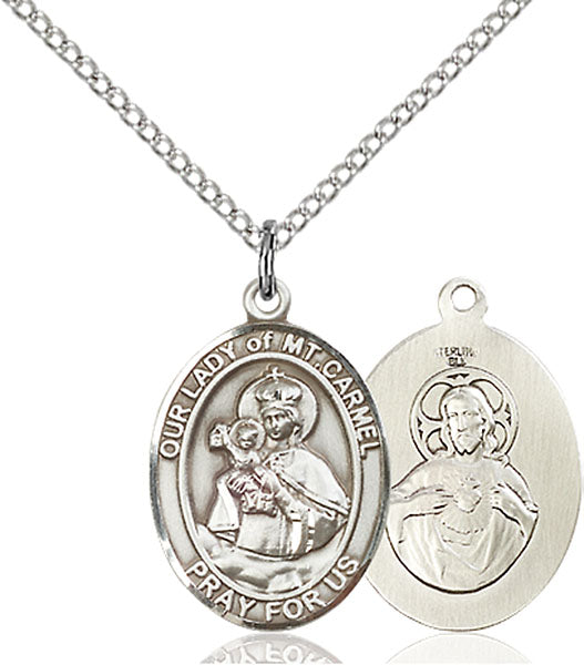 Our Lady of Mt. Carmel Sterling Silver Medal