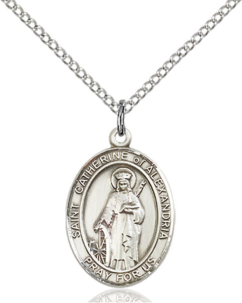 St. Catherine of Alexandria Sterling Silver Medal
