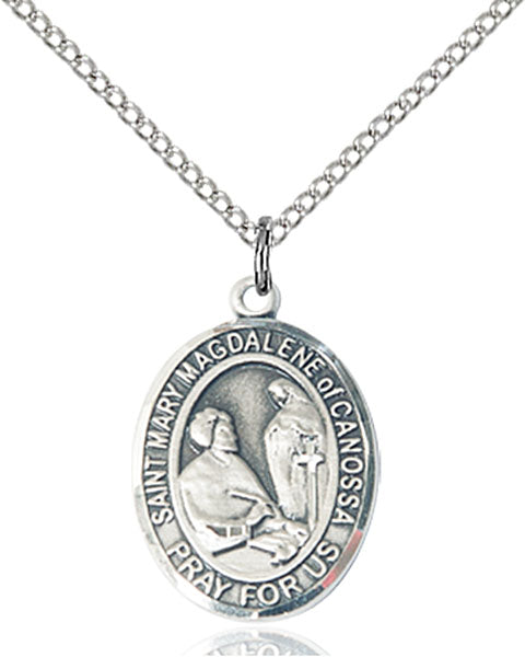St. Mary Madgalene of Canossa Sterling Silver Medal