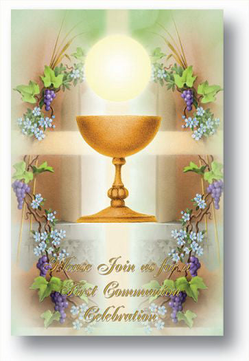First Communion Invitations - 8 Per Pack