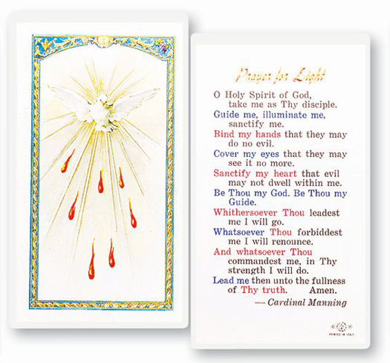 Prayer for Light Prayer Card