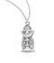 "Sterling Silver Chalice Pendant on an 18"" Genuine Rhodium Plated Chain"