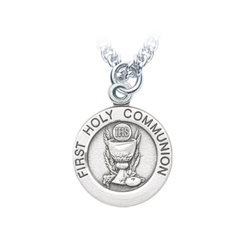 "Sterling Silver Chalice Pendant on an 18"" Rhodium Plated Chain"