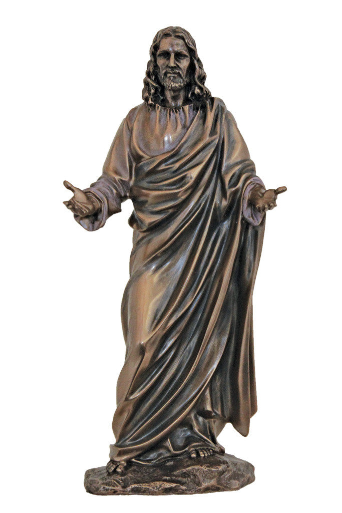 Welcoming Christ Statue - Bronze - 12""