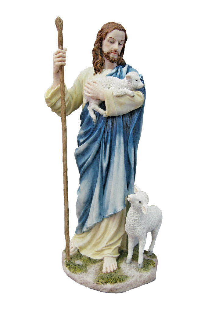 Jesus The Good Shepherd Statue - Color - 11 3/4""