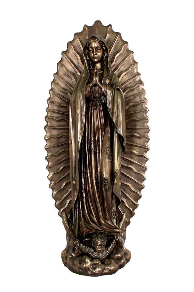 Our Lady of Guadalupe Statue - Bronze - 27""