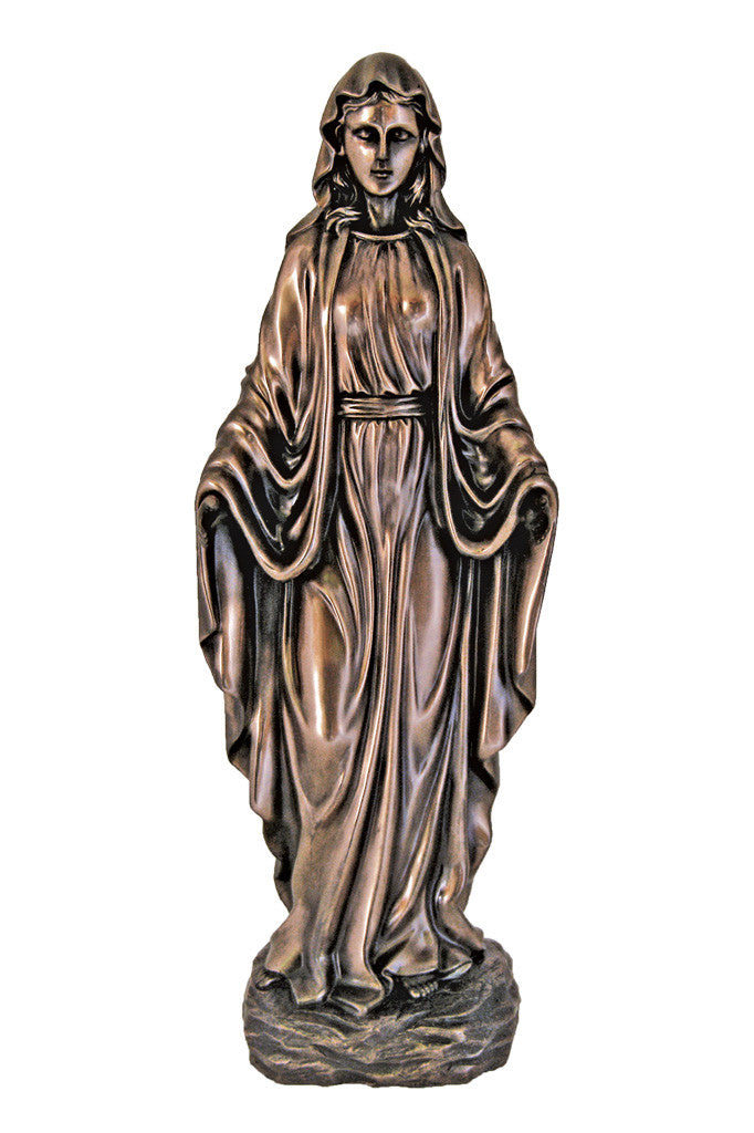 Our Lady of Grace Statue - Bronze - 20""