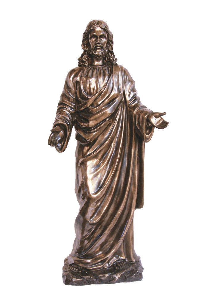 Welcoming Christ Statue - Bronze - 42""