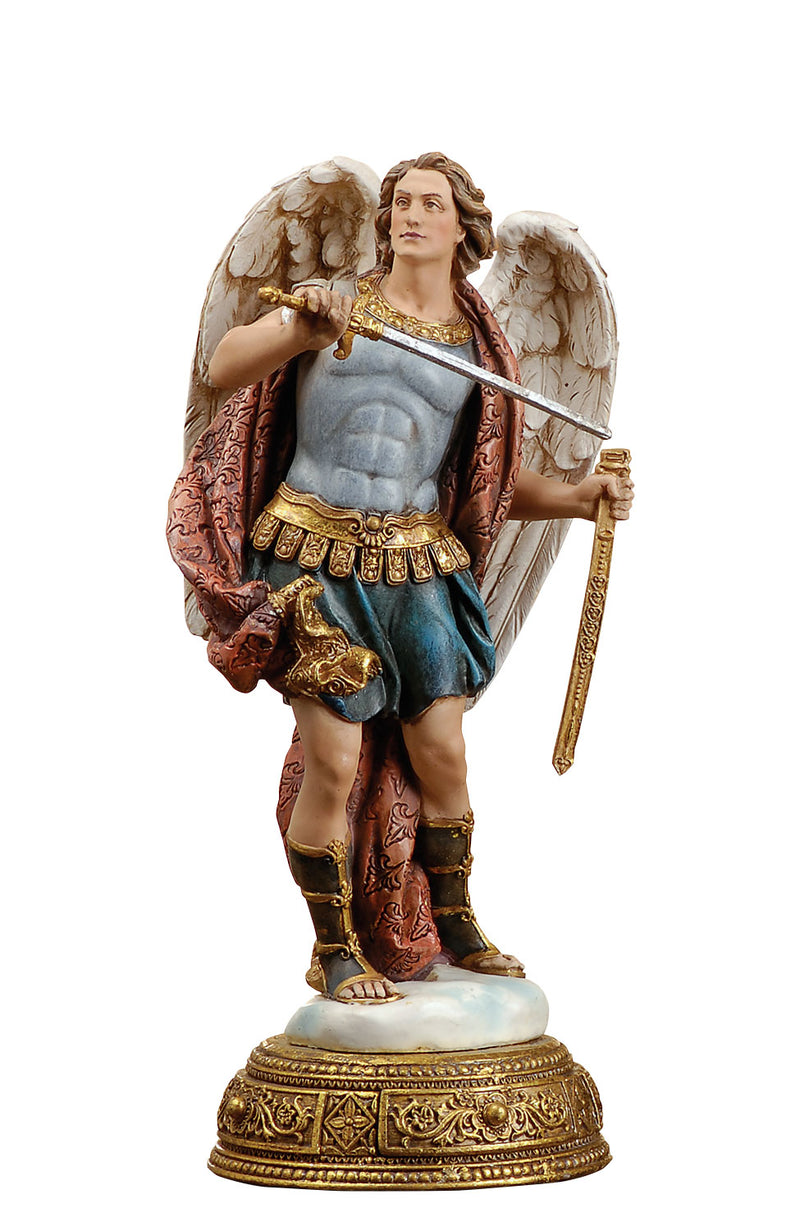 St. Michael Figure - Color - 10.25""