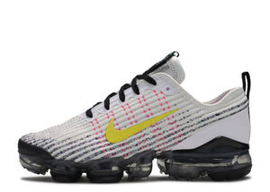 "Nike Air VaporMax Flyknit 3 ""White Dynamic Yellow"" GS Gradeschool - airdrizzykicks.com"