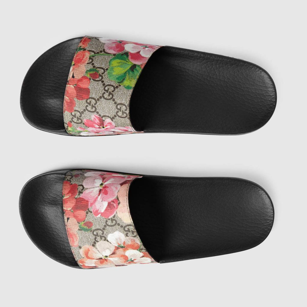 b160c5042f5c Gucci Blooms Supreme slide sandal Womens – airdrizzykicks.com