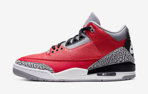 "Air Jordan Retro 3 "" Red Cement"" Mens - airdrizzykicks.com"