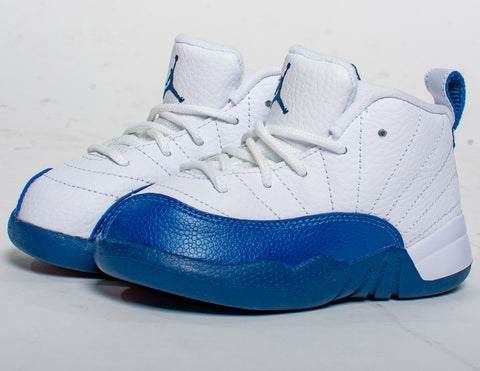 Air Jordan Retro 12 XII 'French Blue'  Toddler TD & Preschool PS - airdrizzykicks.com
