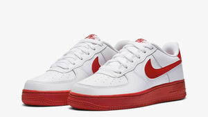 "Nike Air Force 1 low  ""University Red"" GS - airdrizzykicks.com"