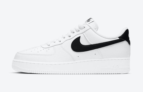 Nike Air Force 1 Low (White/ Black) Tumbled leather Mens - airdrizzykicks.com