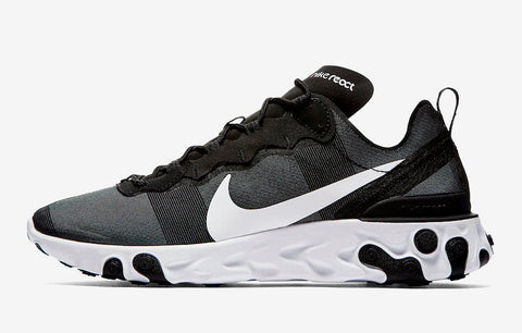 Nike Air React Element 55 'Black/ white' Mens - airdrizzykicks.com