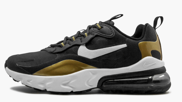 Air Max 270 React (Black/ Gold) Gs - Gradeschool - airdrizzykicks.com