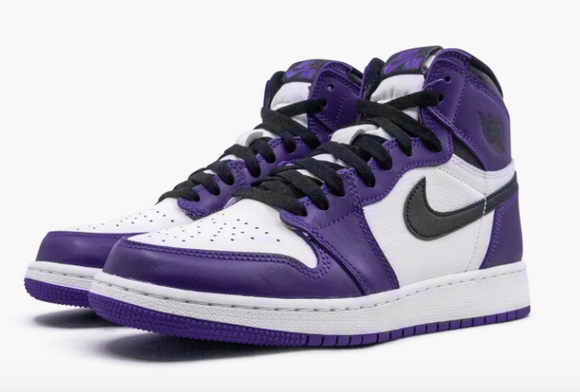 "Air Jordan 1 Retro High OG GS ""Court Purple 2.0"" - airdrizzykicks.com"