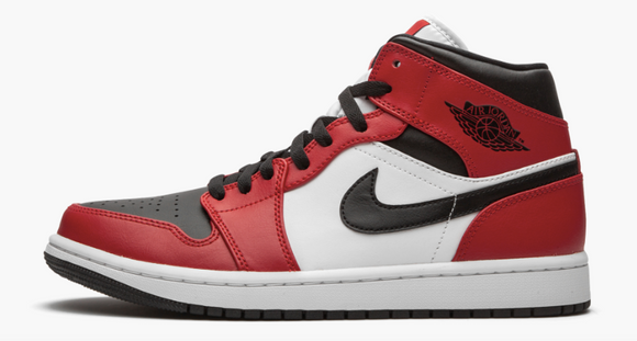 "Air Jordan 1 Mid  ""Chicago - Black Toe"" Mens - airdrizzykicks.com"