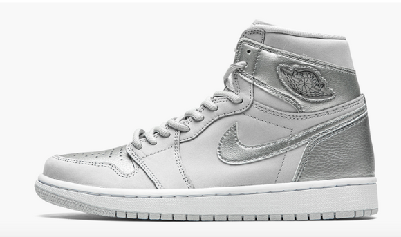 "Air Jordan 1 Retro High OG  ""Co.JP - Metallic Silver"" Mens - airdrizzykicks.com"