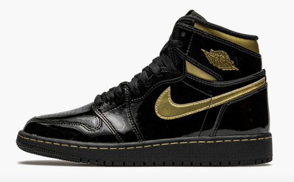 "Air Jordan 1 Retro High OG GS  ""Black Metallic Gold"" - airdrizzykicks.com"