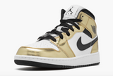 "Air Jordan 1 Mid SE  ""Metallic Gold"" GS - airdrizzykicks.com"