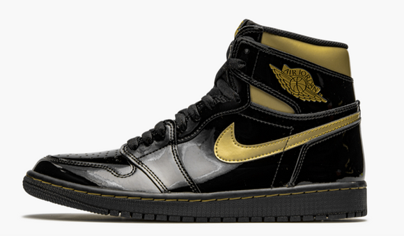 "Air Jordan 1 Retro High OG  ""Black Metallic Gold"" Mens - airdrizzykicks.com"