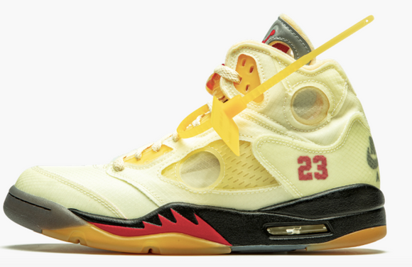 "Air Jordan 5 Retro SP  ""Off-White - Sail"" - airdrizzykicks.com"