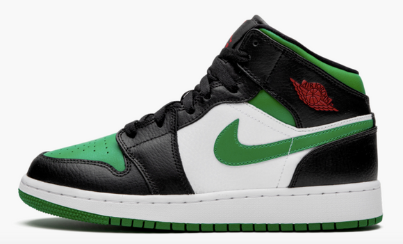 "Air Jordan 1 Mid (GS)  ""Pine Green Toe"" - airdrizzykicks.com"