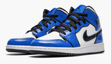 "Air Jordan 1 Mid SE GS  ""Signal Blue"" - airdrizzykicks.com"