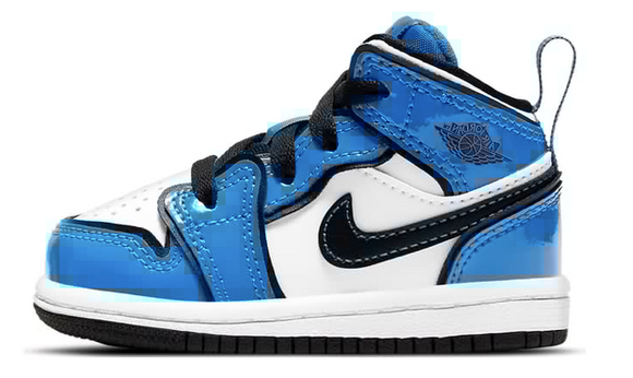 "Air Jordan 1 Mid SE  ""Signal Blue"" Toddler TD & Preschool PS - airdrizzykicks.com"