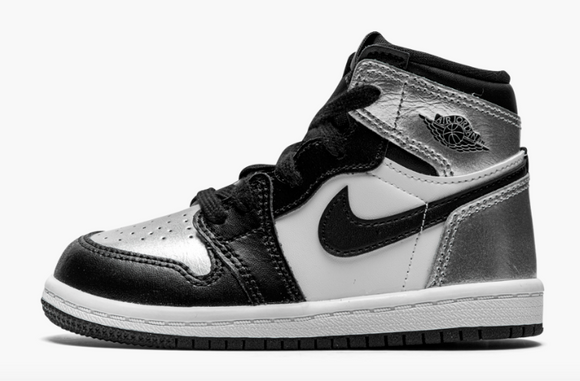 "Jordan 1 High OG ""Silver Toe"" Toddler TD & Preschool PS"