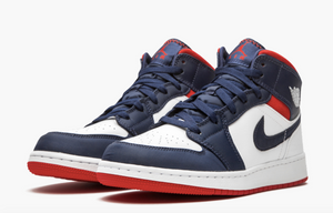 "Air Jordan 1 Mid SE  ""USA"" GS - airdrizzykicks.com"
