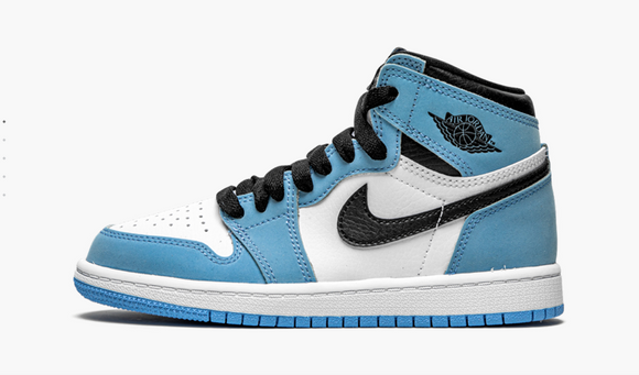 "Air Jordan 1 Retro High OG ""University Blue"" Preschool PS - airdrizzykicks.com"