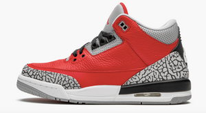 "Air Jordan Retro 3 "" Red Cement""  Grade School - airdrizzykicks.com"