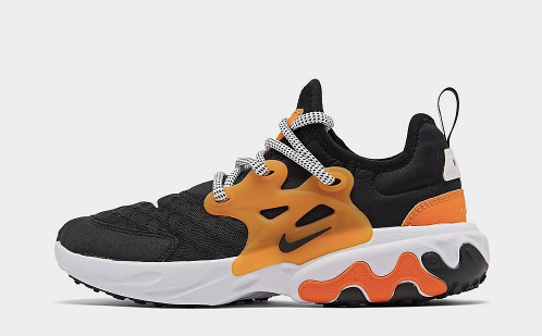 Nike React Presto (Black/Orange) GS Gradeschool - airdrizzykicks.com
