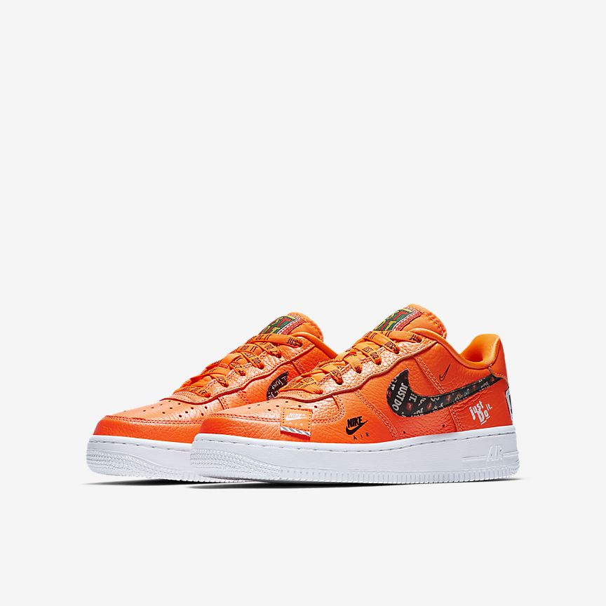 984ea9cd4bff Nike Air Force 1 Low  Just Do it pack  Mens AR7719-800 total orange –  airdrizzykicks.com