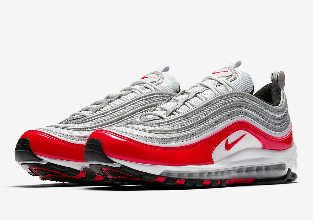 super popular 4ddd0 aa36c ... spain nike air max 97 university red mens 921826 009 patent leather  2be35 6be51