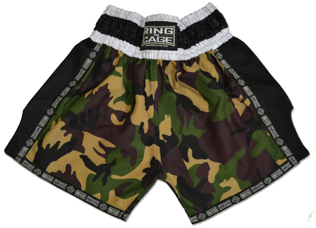 Ring to Cage Muay Thai Shorts Camo