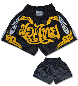 Ring to Cage Muay Thai Shorts Gold/Black