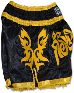 Ring to Cage Muay Thai Shorts - Black/Gold