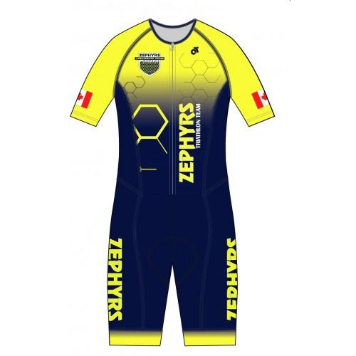 Zephyrs Performance ShortSleeve Tri Suit - Yellow