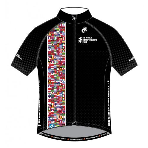 ITU World Championships Cycling Flags Jerseys