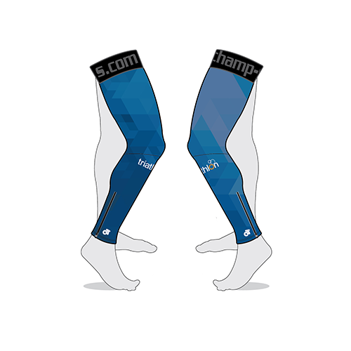 ITU Blue Performance Leg Warmers