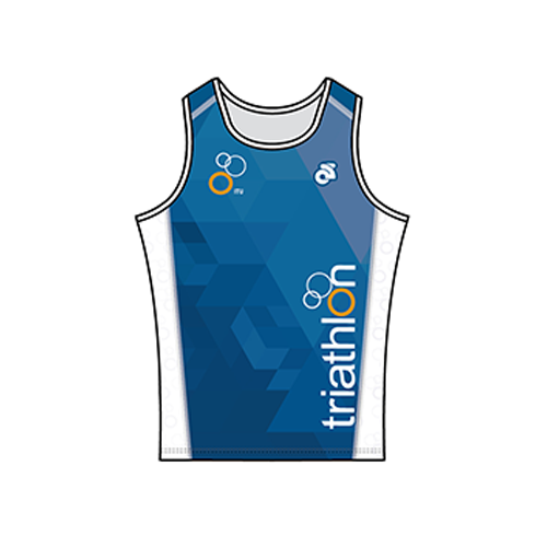 ITU Blue Performance Run Singlet
