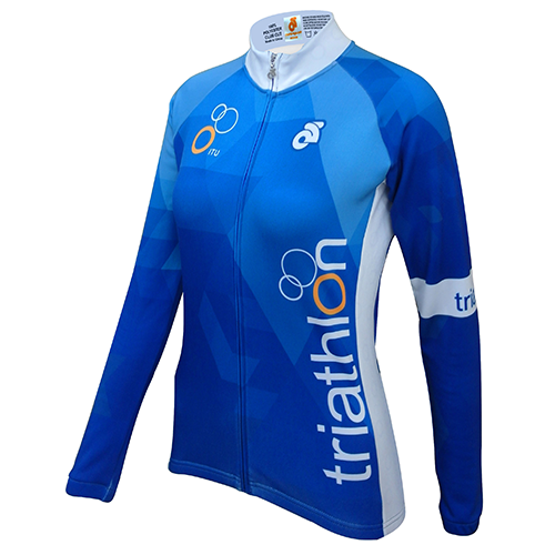 ITU Blue Fleece Long Sleeve Jersey