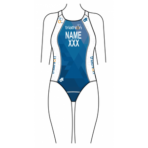 ITU Blue Women's Triathlon Swimsuit