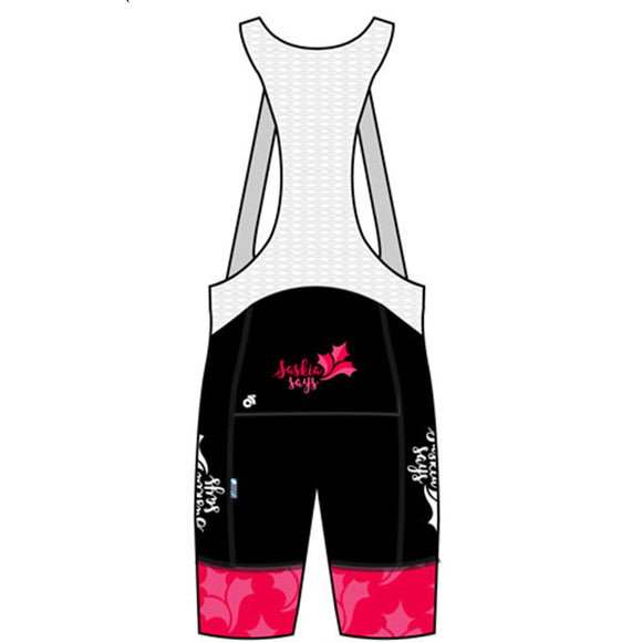 Saskia Says Tech Cycling Bib Shorts Pink